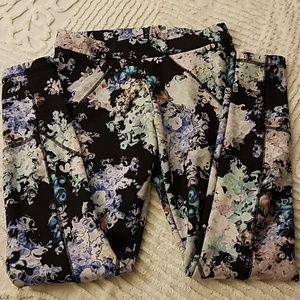 Cynthia Rowley floral patterned leggings